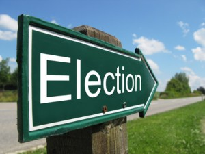 ELECTION road sign