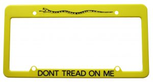 Dont Tread on Me License Plate Frame